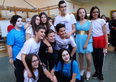 Participantes del espectáculo de circo, EscaramuZAS 2018